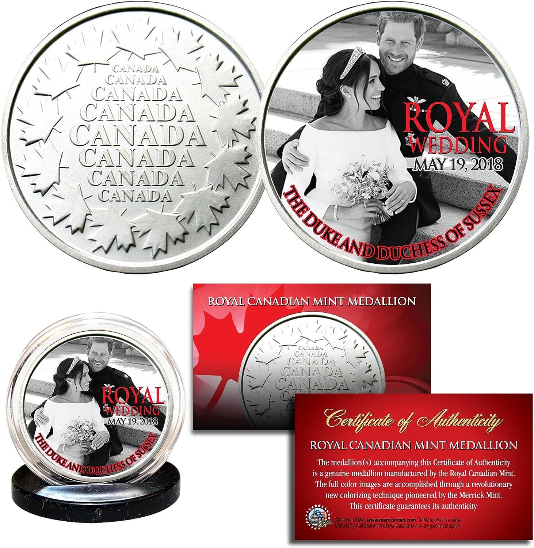 PRINCE HARRY /& MEGHAN MARKLE Official Royal Wedding Portraits RCM 2-Coin Set