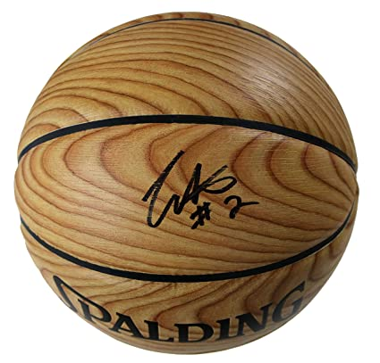 084edc4778a Collin Sexton Cleveland Cavaliers Signed Autographed Spalding NBA Woodgrain  Cavs Logo Basketball