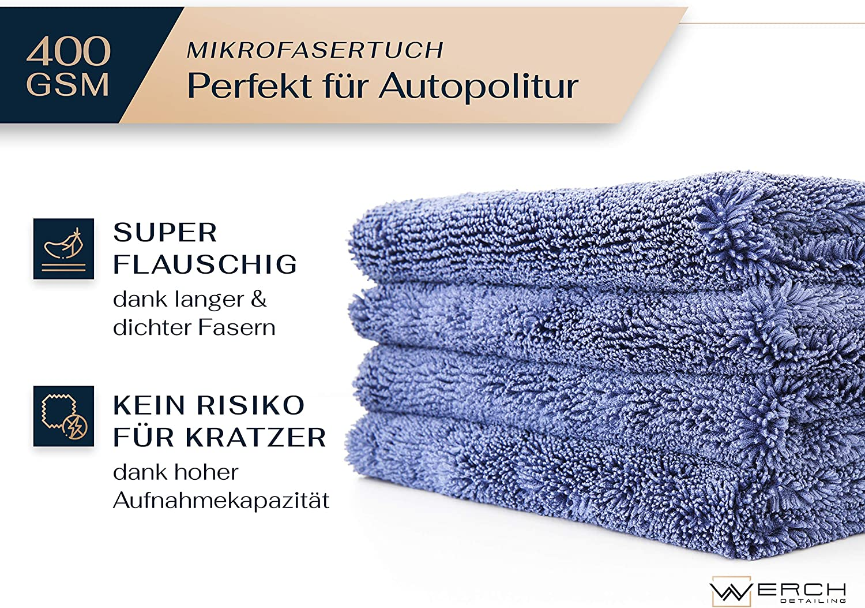Randloses Mikrofasertuch 40x40cm 400GSM Microfasertuch Poliertuch für Auto