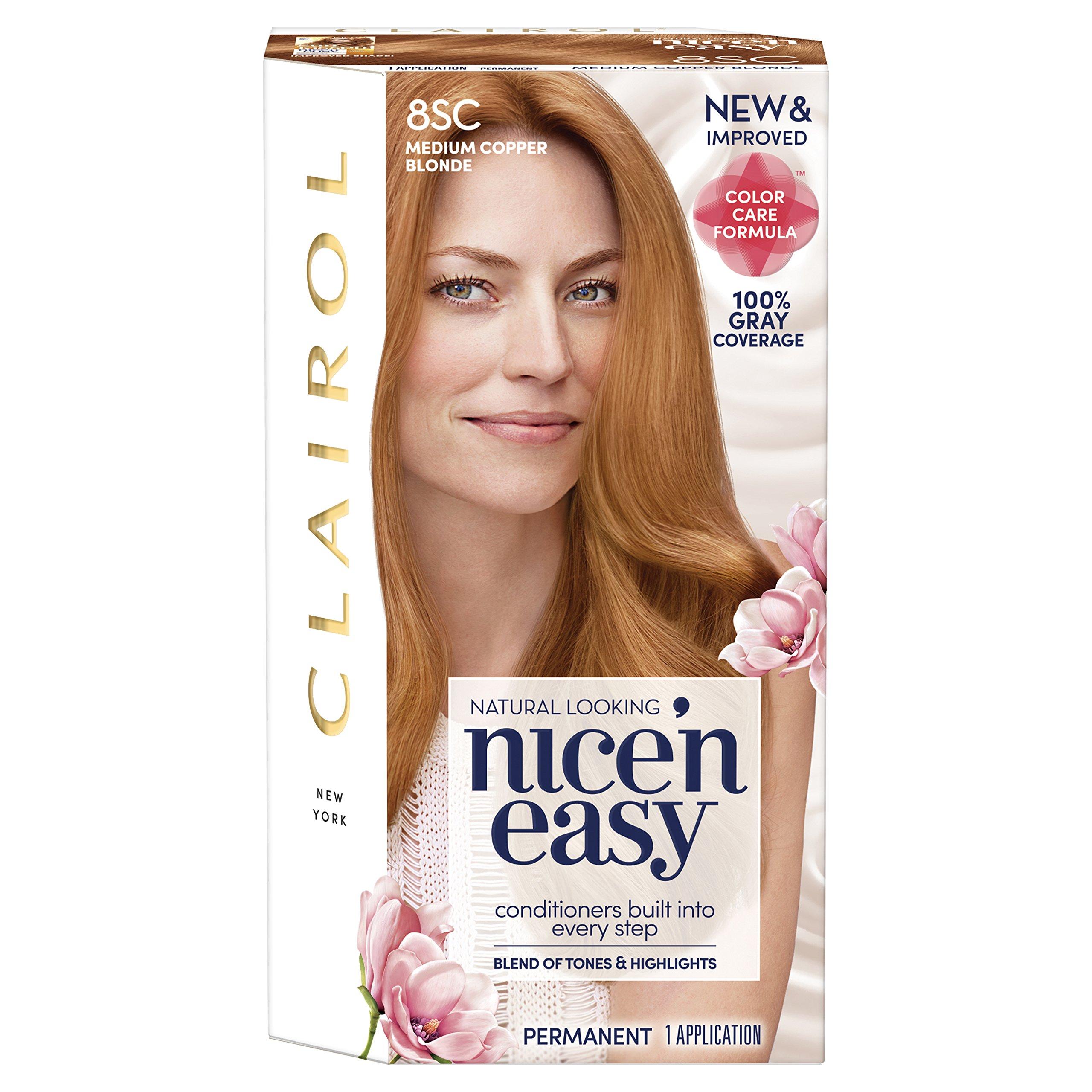 Amazon.com: Clairol Nice \u002639;n Easy, 8SC Medium Copper Blonde, Permanent Hair Color, 1 Kit