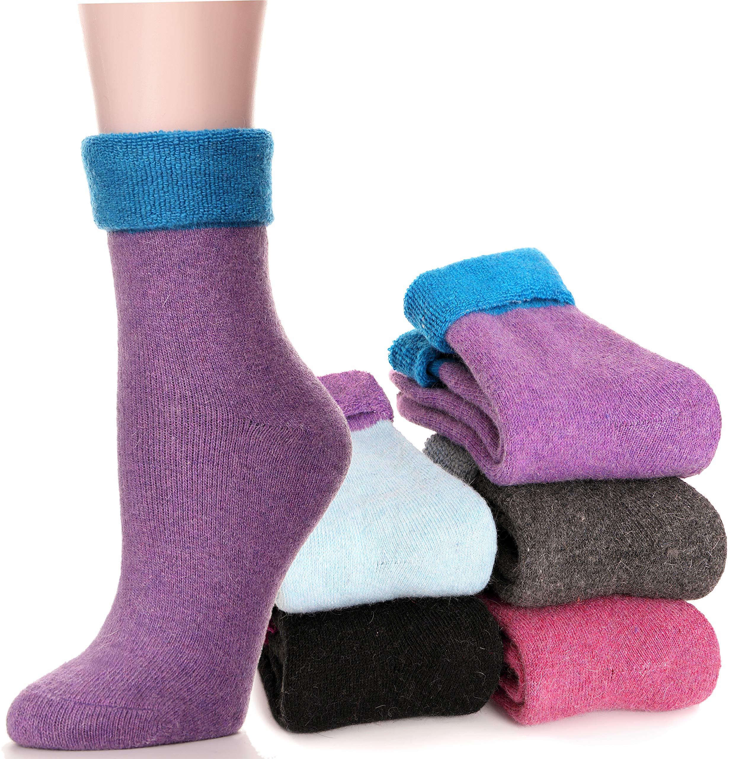 54d0047acda2e Women's Wool Tube Socks Fuzzy Heavy Thermal Thick Warm Winter Socks - 5  Pairs. HEAVY & WARM & FUZZY : The materials for this stylish socks is very  heavy, ...