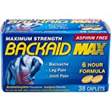 Backaid Max Relief Caplets, Aspirin-Free Pain Relief from Backache, Sciatica, and Leg Pain, Long-Lasting 6 Hour Formula…