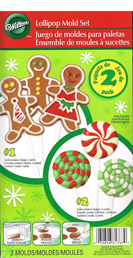 Wilton Gingy and Swirl Lollipop Mold Set