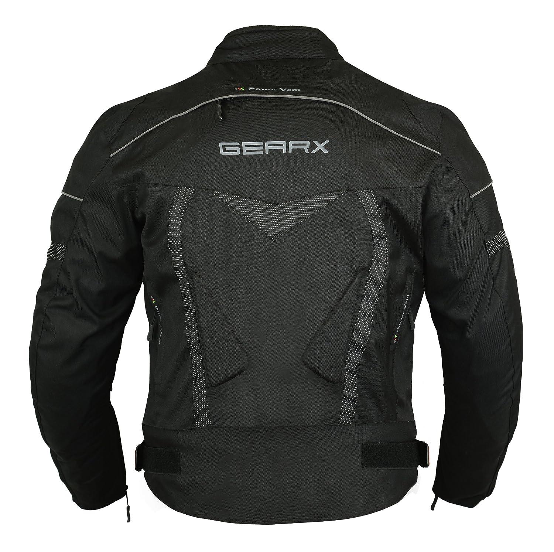 Gearx Aircon Summer Motorcycle Jacket Waterproof Protection Amazon