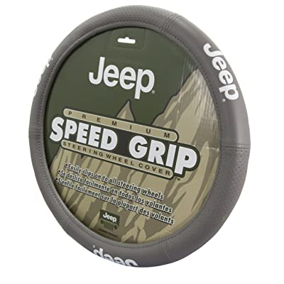 Plasticolor 006729R25 Grey Steering Wheel Cover (Jeep Elite): Automotive