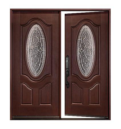 Fiberglass Door M800d 30 X 80 X2 Exterior Front Entry Double Door