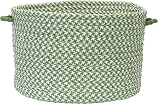 product image for Colonial Mills Outdoor Houndstooth Tweed Utility Basket, 18 by 12-Inch, Leaf Green