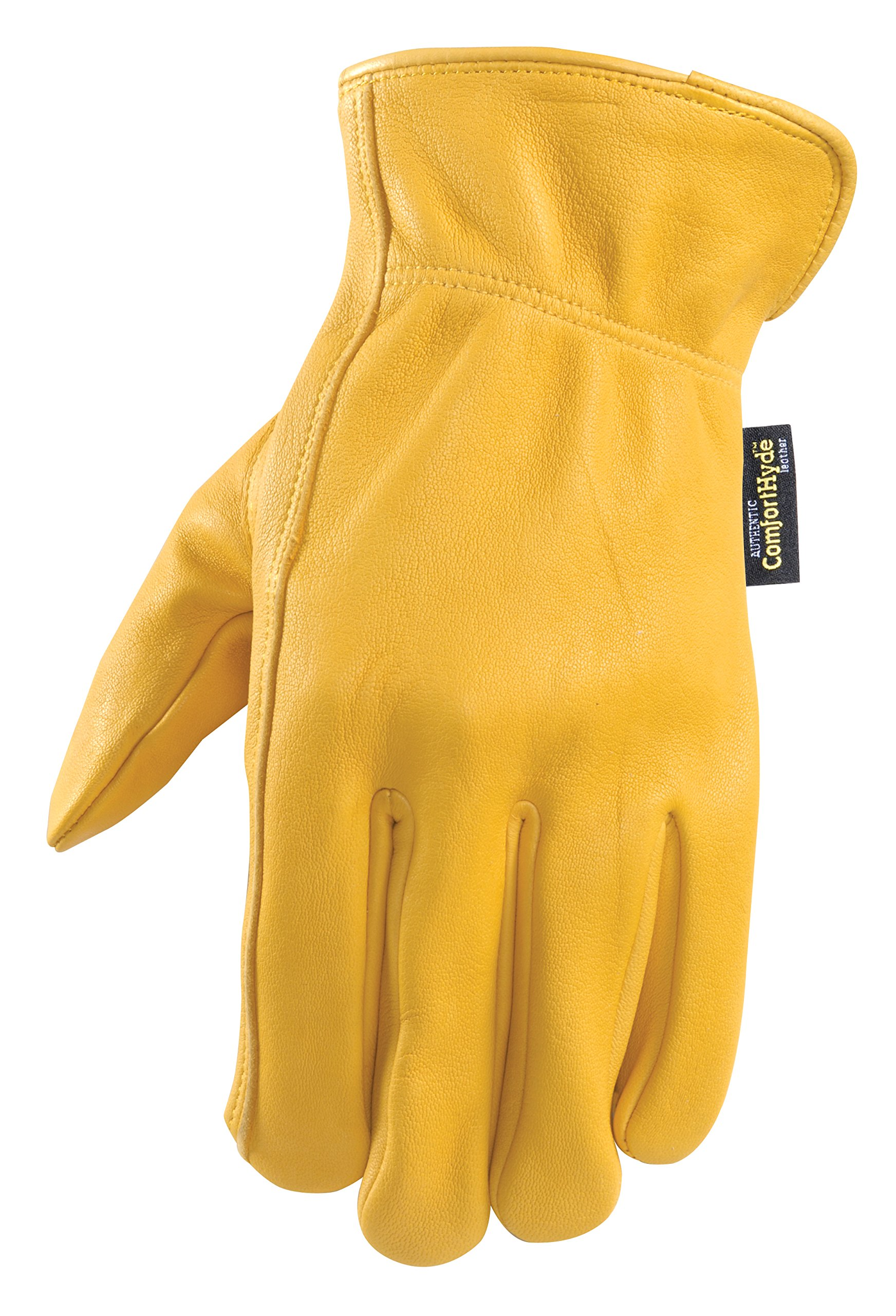 Full Leather Men's Driving Gloves, Light-Duty Work Gloves, Soft, Supple, X-Large (Wells Lamont 984XL) by Wells Lamont