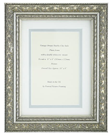 Hand Made Antique Silver Shabby Chic Ornate Vintage Picture Frame 10 ...