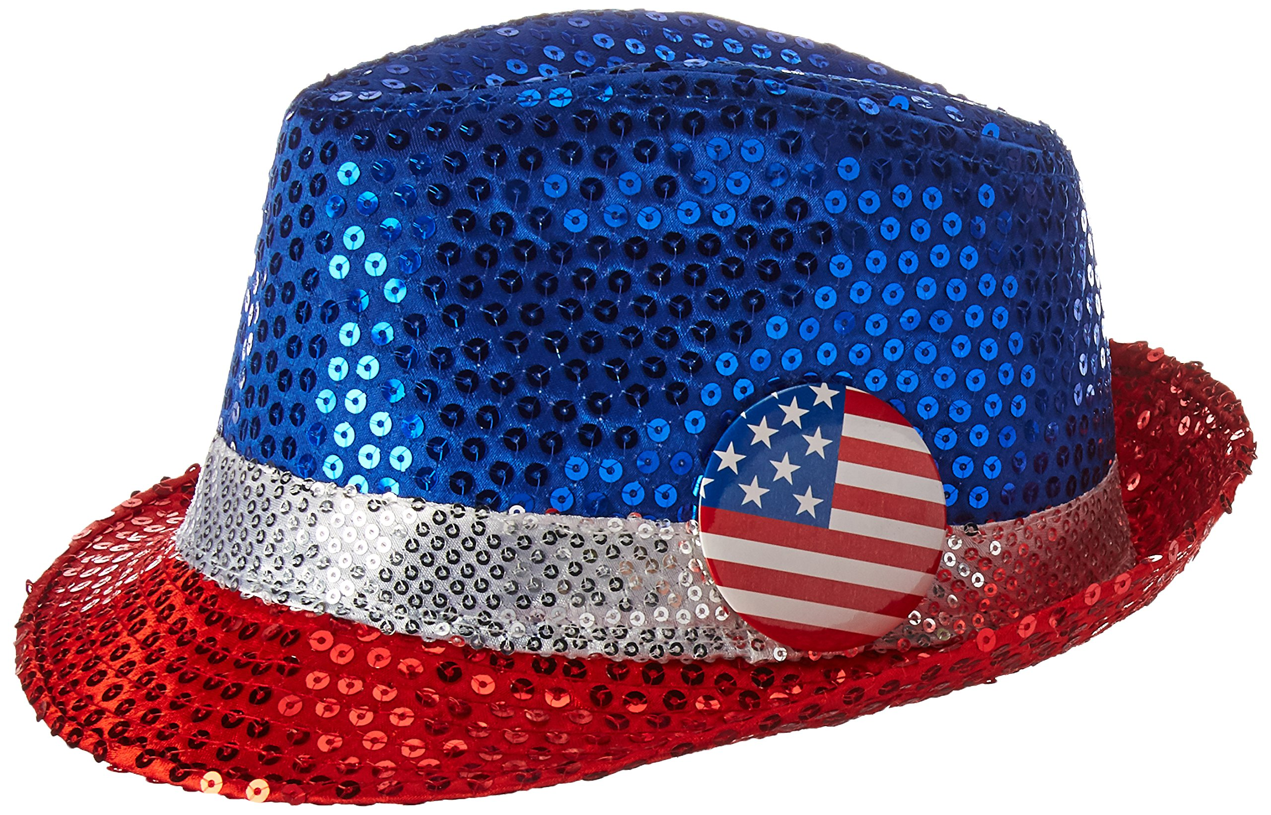 Amscan Sequined Party Fedora, 5.5'' x 10.75'', 6 Ct.