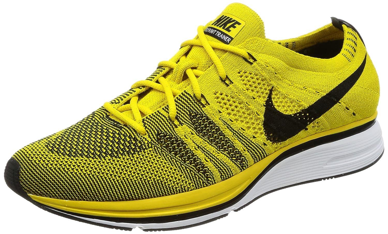 Nike Unisex-Erwachsene Flyknit Trainer Gymnastikschuhe  43 EU|Gelb (Bright Citronblackwhite)