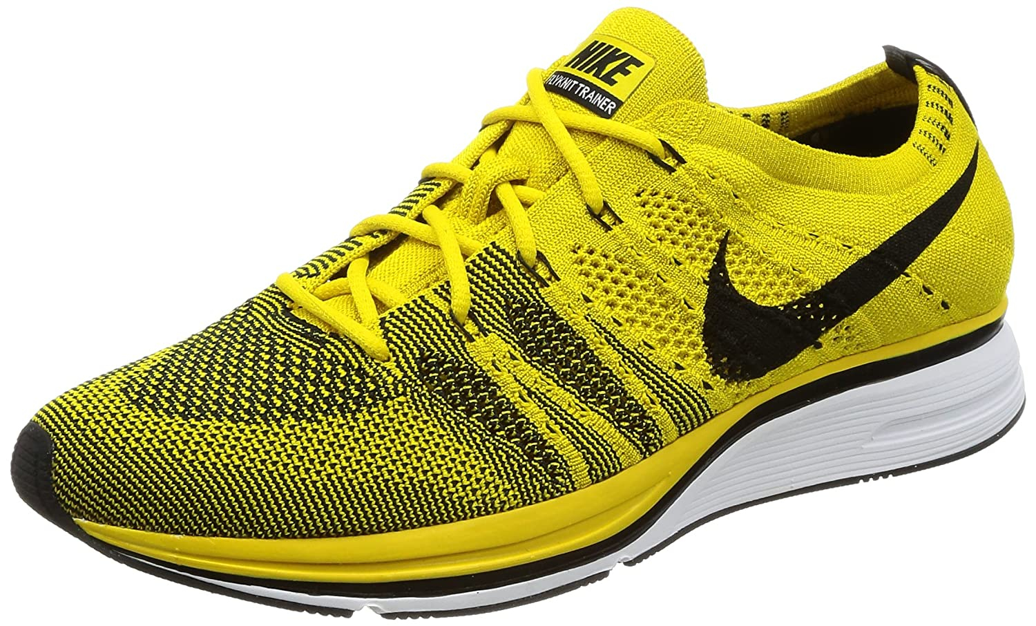 df210a431b3d ... france amazon nike mens flyknit trainer bright citron fabric fashion  sneakers b33aa 6dac1