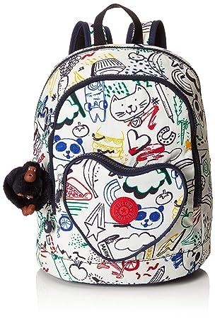 Kipling HEART BACKPACK Mochila infantil, 32 cm, 9 liters, Multicolor (Doodle Play Bl): Amazon.es: Equipaje