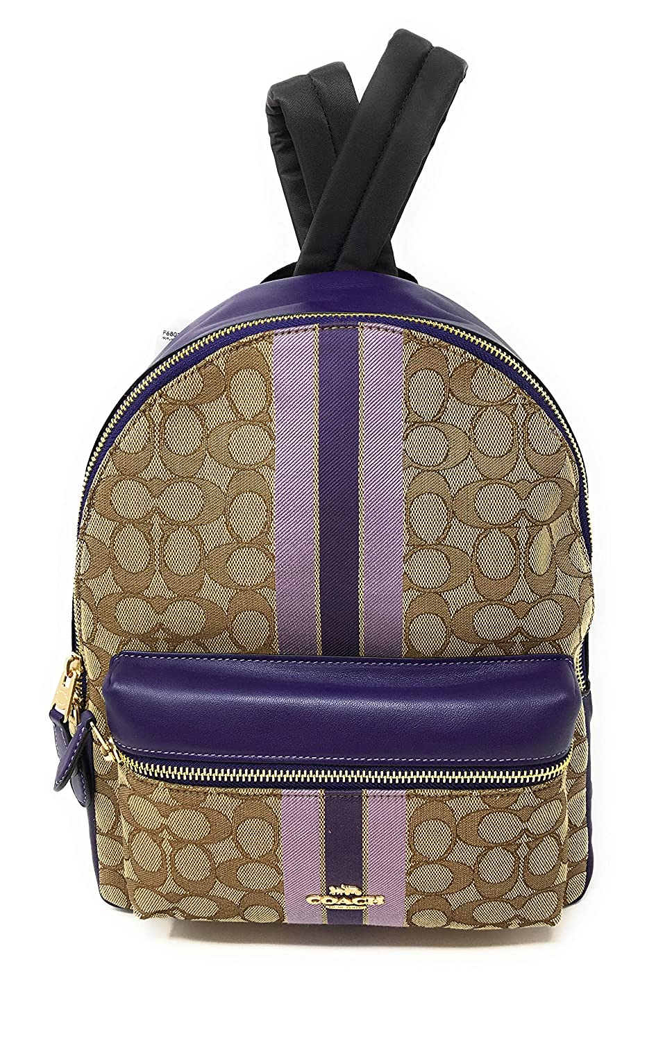 Coach Womens Charlie Signature Leather Backpack