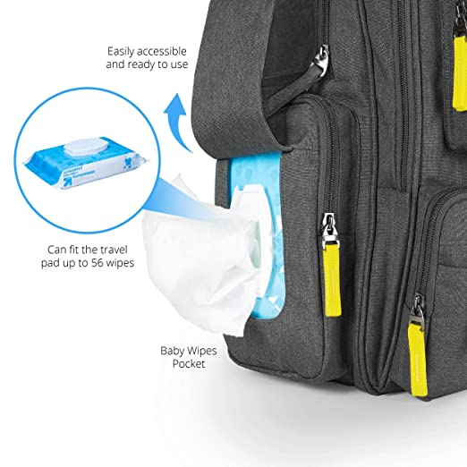 Amazon.com: bagitalist bebé pañal bolsa Backpack- alta ...