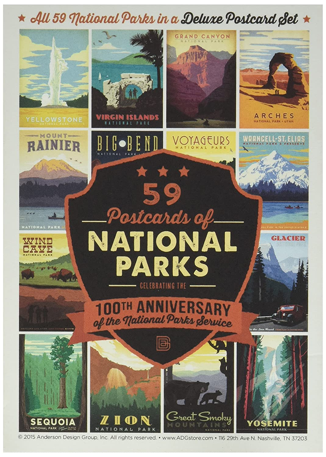 Amazon 59 Piece Deluxe National Parks Postcard Set Office Products