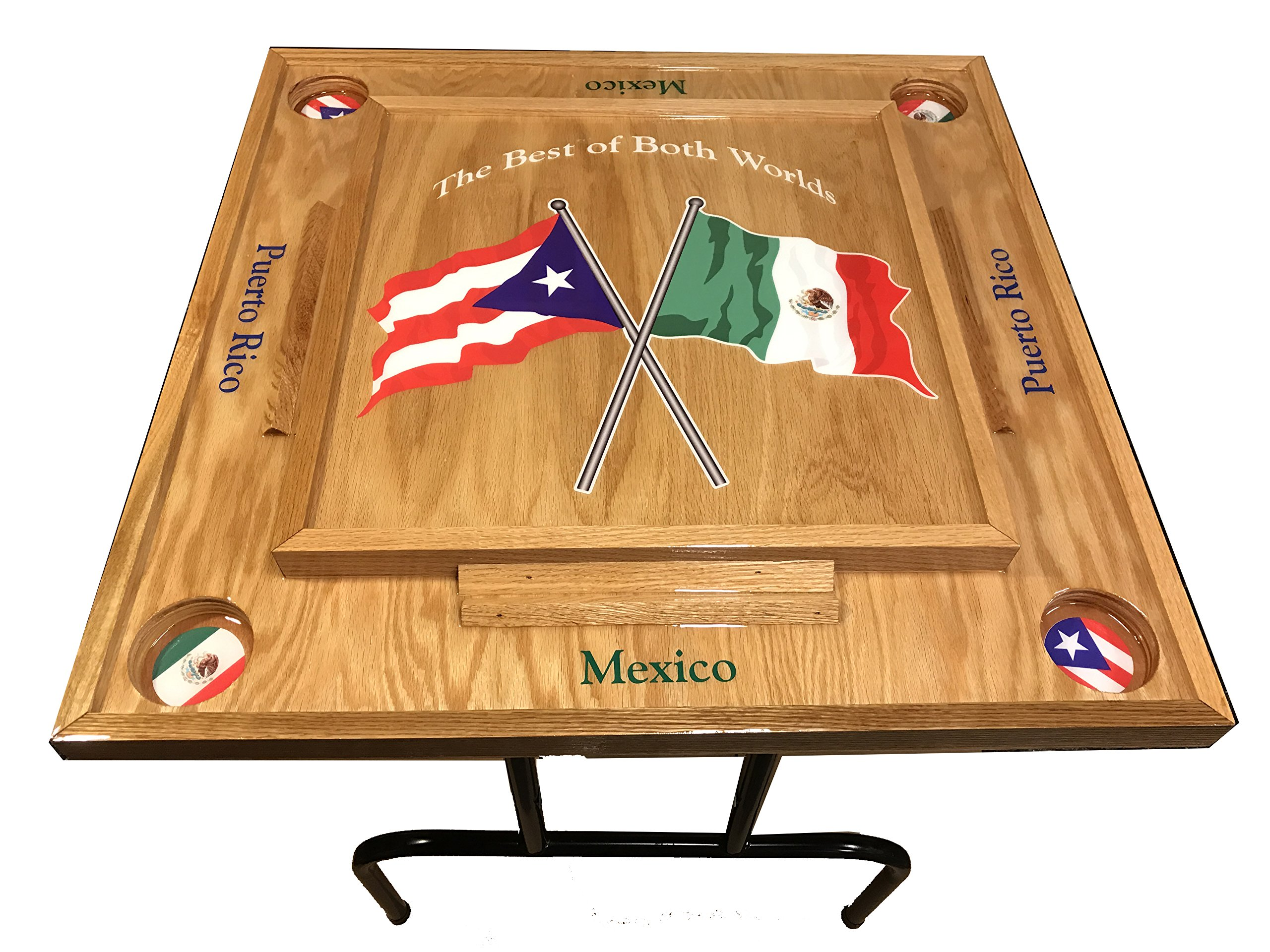Puerto Rico & Mexico Domino Table by latinos r us