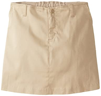 Amazoncom Classroom Girls Uniform Stretch Fly Front Scooter Skirt