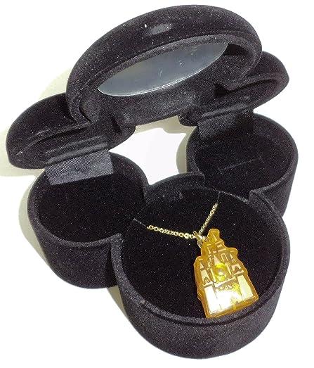 Amazoncom Disney Cinderella Castle Blinking Necklace in Velvet