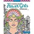 KC Doodle Art Flower Girls Coloring Book (Design Originals)