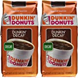 Dunkin Donuts Ground Coffee - Net Wt 12 OZ (Pack of 2) (Dunkin Decaf)