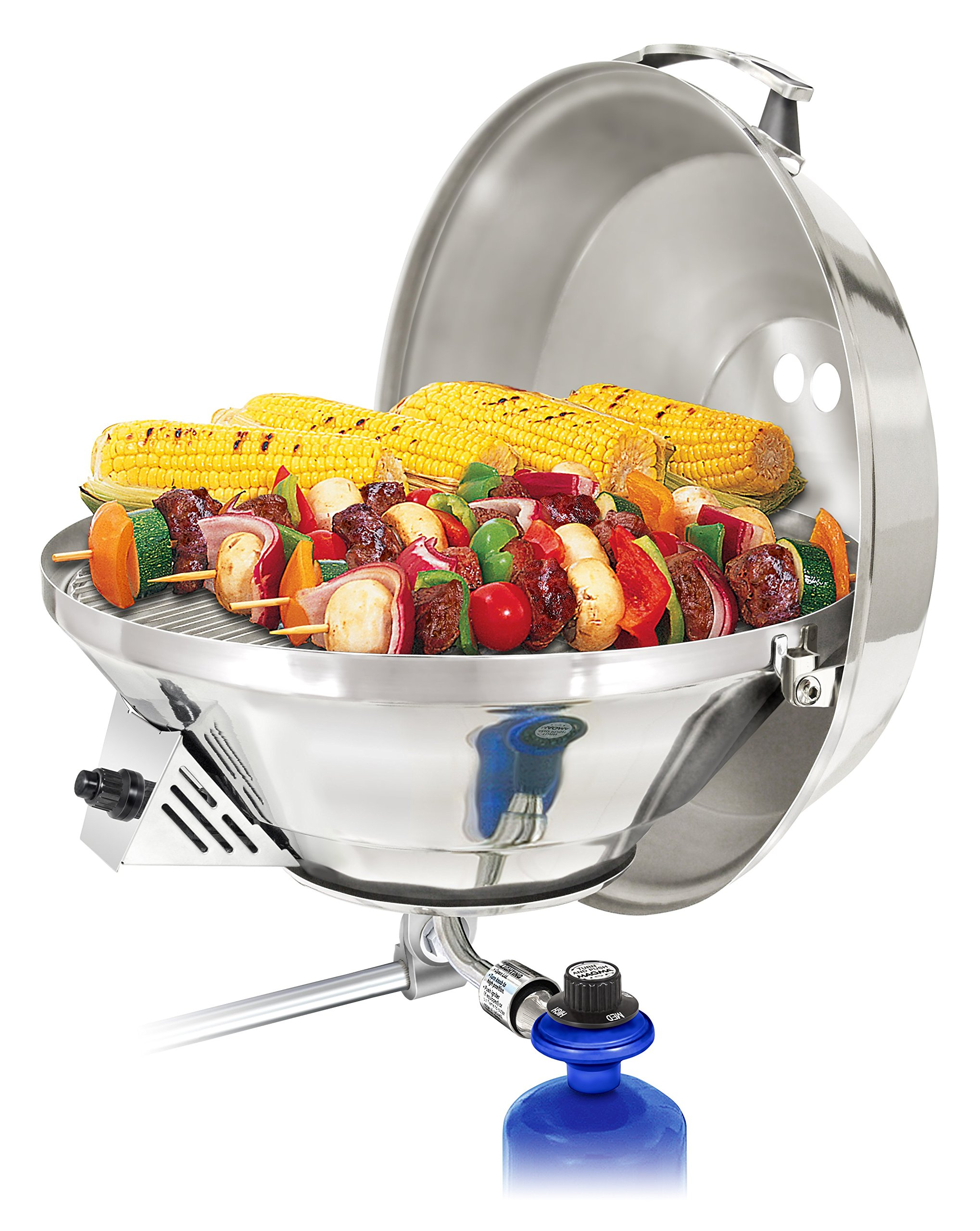 Magma Products, A10-217-3 Marine Kettle 3, A10-217-3, Combination Stove & Gas Grill, Propane Portable Oven, Party Size 17''