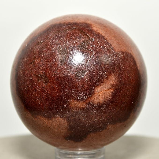 43 mm Shiva Lingam esfera Natural marrón Lingham cristal pulido bola espiritual Narmada River Mineral Piedra - India: Amazon.es: Hogar