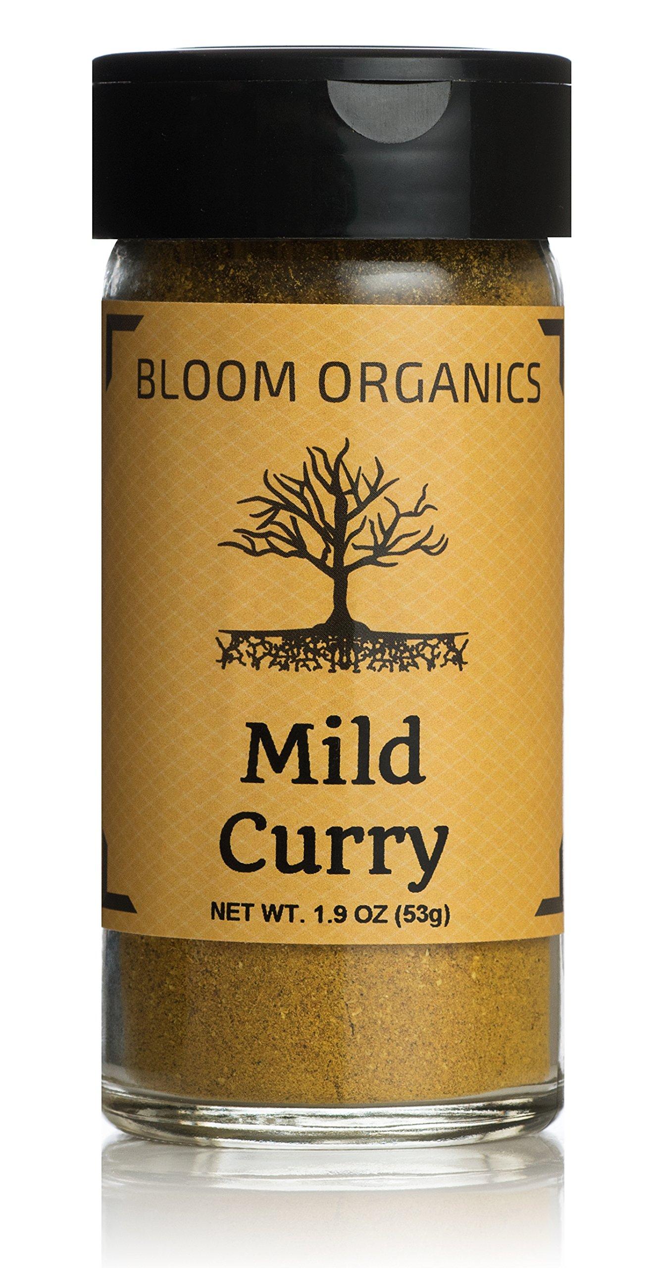 Bloom Organics Mild Curry USDA Certified Organic, 1.9 oz - Glass Jar