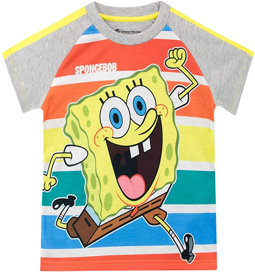 SpongeBob Camiseta de Manga Corta para niños Bob Esponja: Amazon.es: Ropa y accesorios
