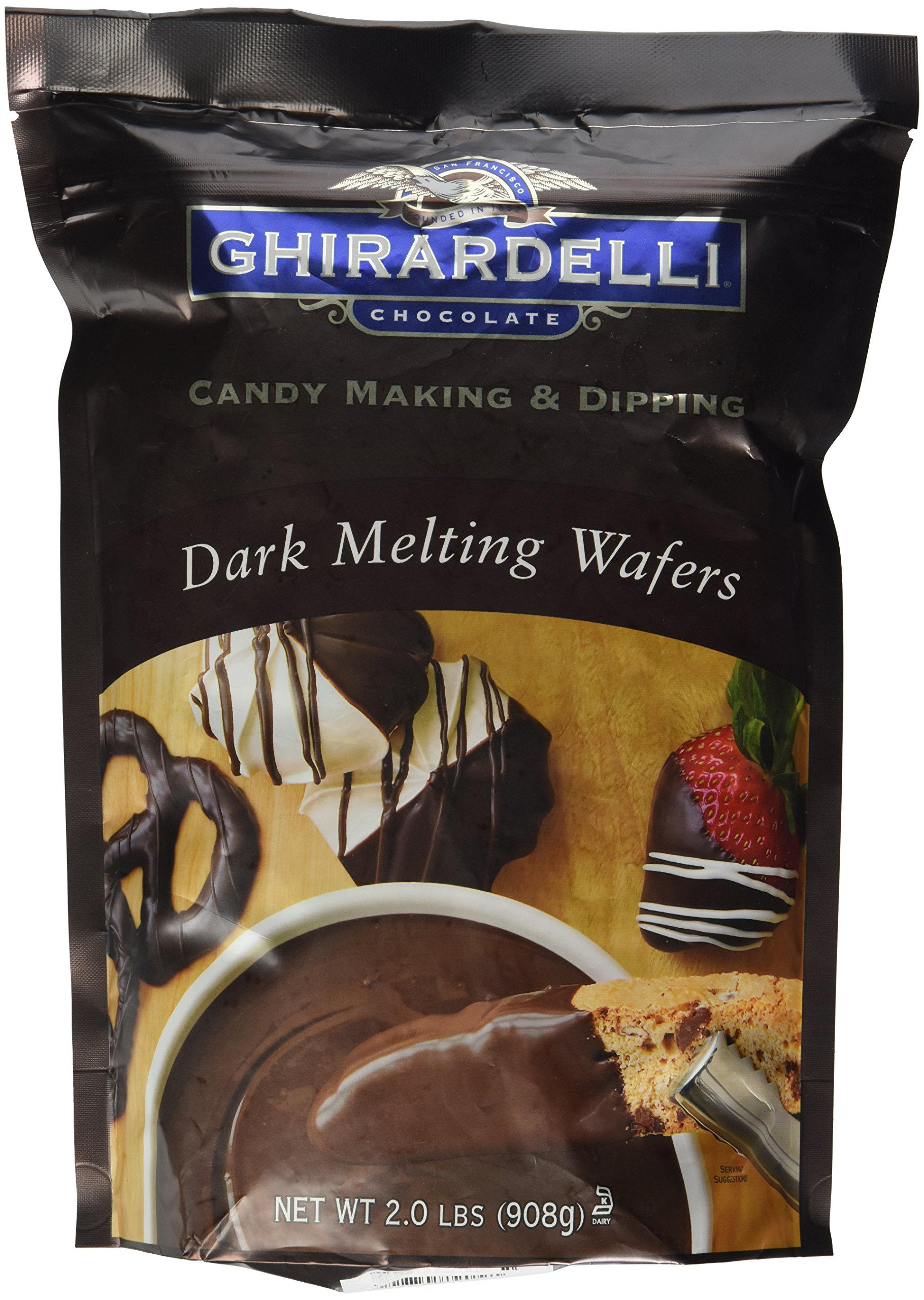 Amazon.com : Ghirardelli White Melting Wafers - 2lbs ...