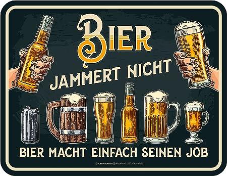 Bier jammert nicht Funschild 22 x 17 cm