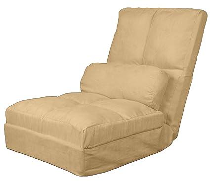 Surprising Cosmo Click Clack Convertible Futon Pillow Top Flip Chair Sleeper Bed 28 Khaki Inzonedesignstudio Interior Chair Design Inzonedesignstudiocom