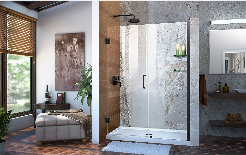 DreamLine Unidoor 47-48 pulgadas. Puerta de ducha sin marco, con bisagras, varios estilos, tamaño, color: Amazon.es: Bricolaje y herramientas