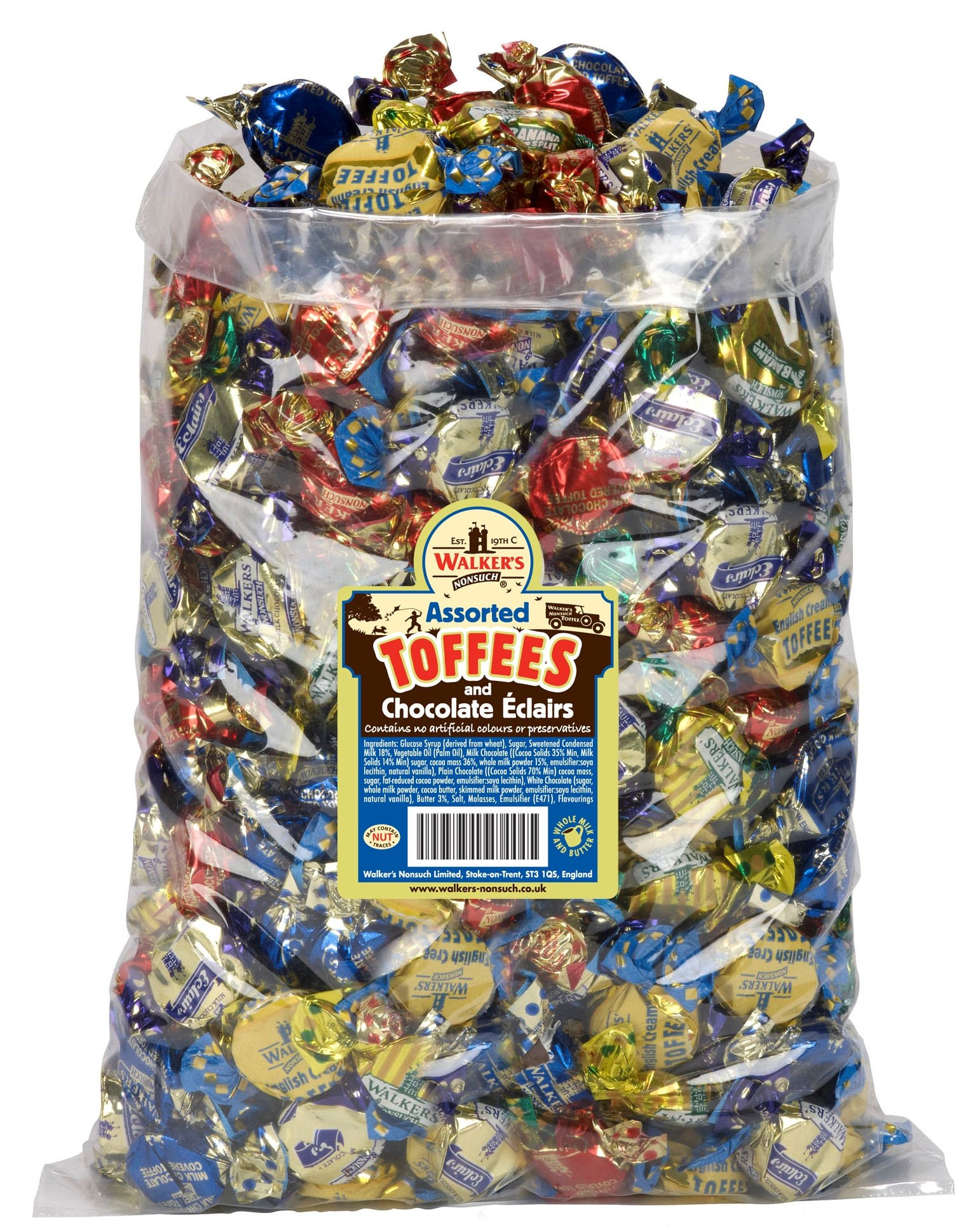 WALKERS NONSUCH Assorted Toffees and Chocolate Eclairs Bulk Bags 2.5 kg by GroceryLand