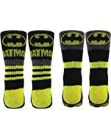 Batman Mens Athletic Crew Socks 2 Pair Pack
