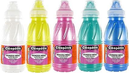 Cleopatre - PAM250X5N - Pack de 5 frascos de pintura acrílica, 250 ml, nacarada: Amazon.es: Oficina y papelería
