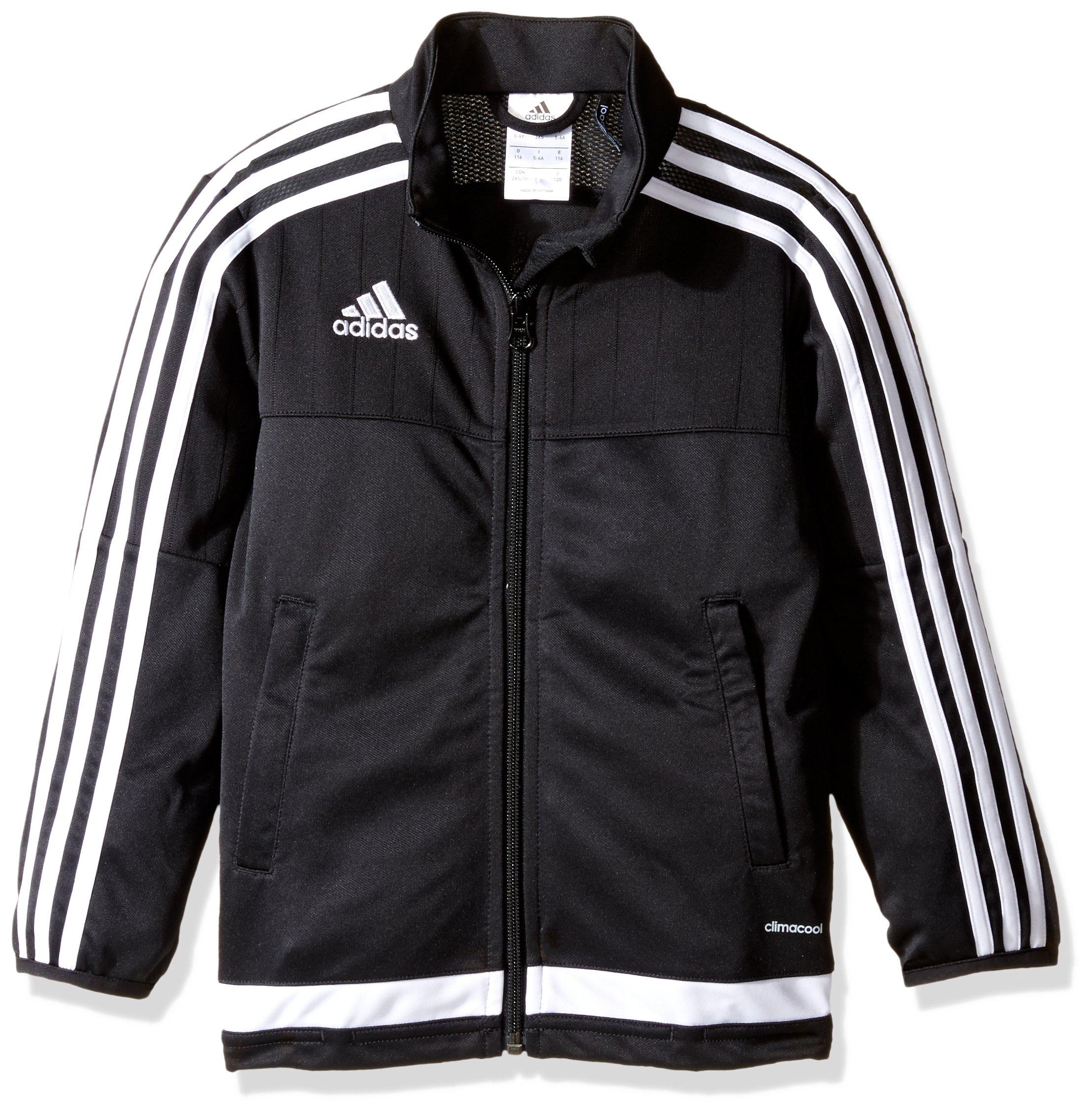 adidas Kids' Soccer Tiro 15 Training Jacket, White/Black, Small by adidas