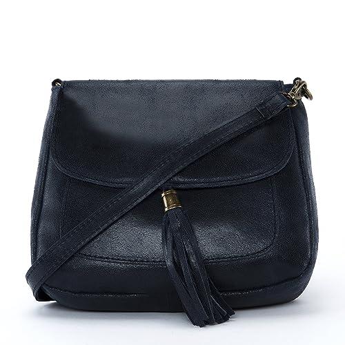 OH MY BAG Sac à main cuir femme - Modèle Sia bleu foncé - Soldes pKouMP2