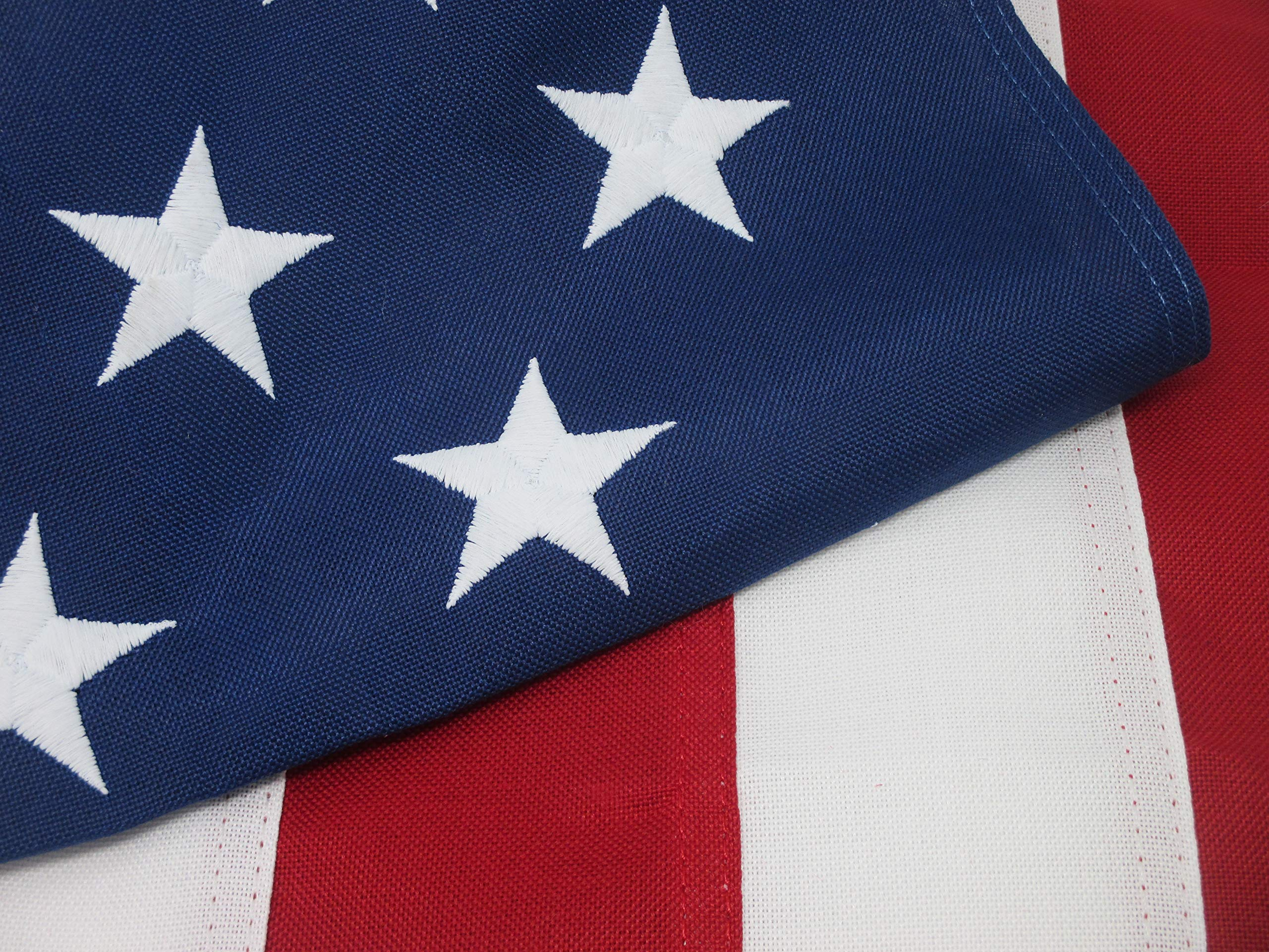 American Flag 3x5 Heavy Duty Premium Commercial Grade 2-Ply PolyMax Polyester The Best US Flag 100% Made in USA Tough Durable Fade Resistant All Weather Sewn Stripes Embroidered Stars Brass Grommets by Made in USA Flags