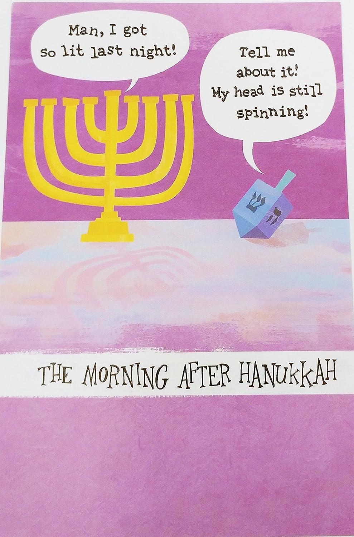 La mañana después de Hanukkah lindo/divertido Tarjeta de felicitación –