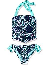 641290ba1f Angel Beach Big Girls  High Neck Tankini Swimsuit Set Pom