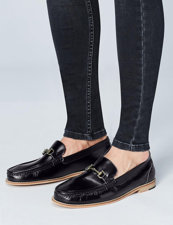 FIND Mocasines con Herraje para Hombre, Negro (Black), 42 EU: Amazon.es: Zapatos y complementos