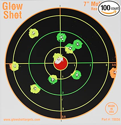"""Reddot 12/""""x18/"""" Non-Reactive Paper Shooting Targets 25 Pack"""