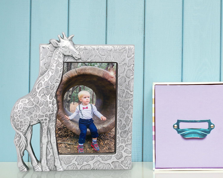Arthur Court Designs Aluminum 4x6 Giraffe Picture Frame