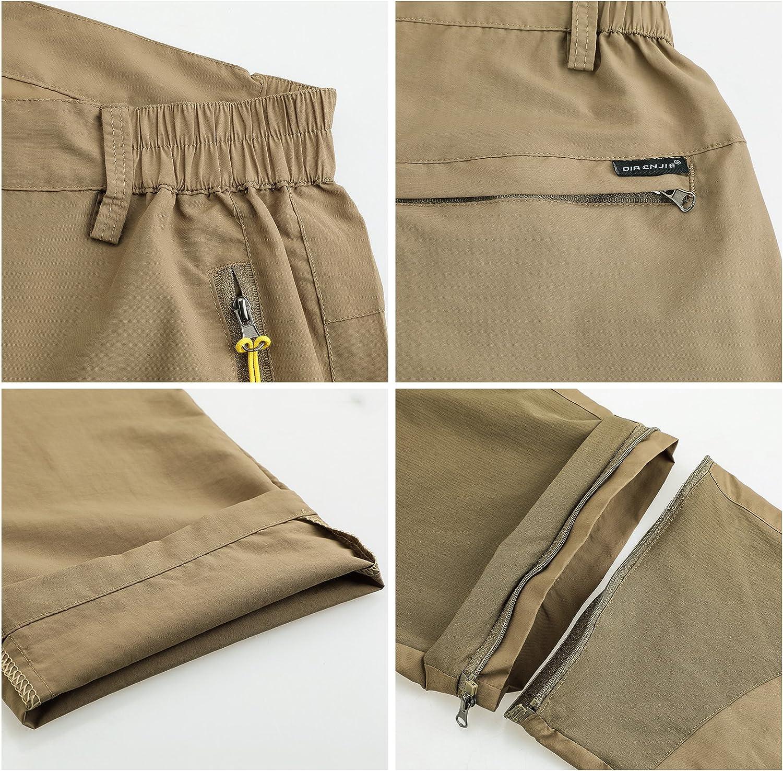 Superora Pantalones Hombres Largo//Corto Impermeable Senderismo T/áctico Camuflaje Secado R/ápido Fino y Transpirable para Primavera y Verano