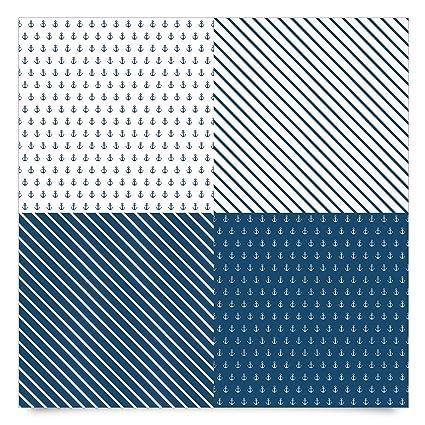 pellicola adesiva maritimes anchor and stripes set carta adesiva