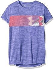 e1631f69 Under Armour Girls' Hybrid Big Logo Short Sleeve T-Shirt