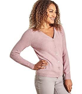 Woolovers Ladies Cashmere and Merino Luxurious V Neck Knitted Cardigan 0c399bd33