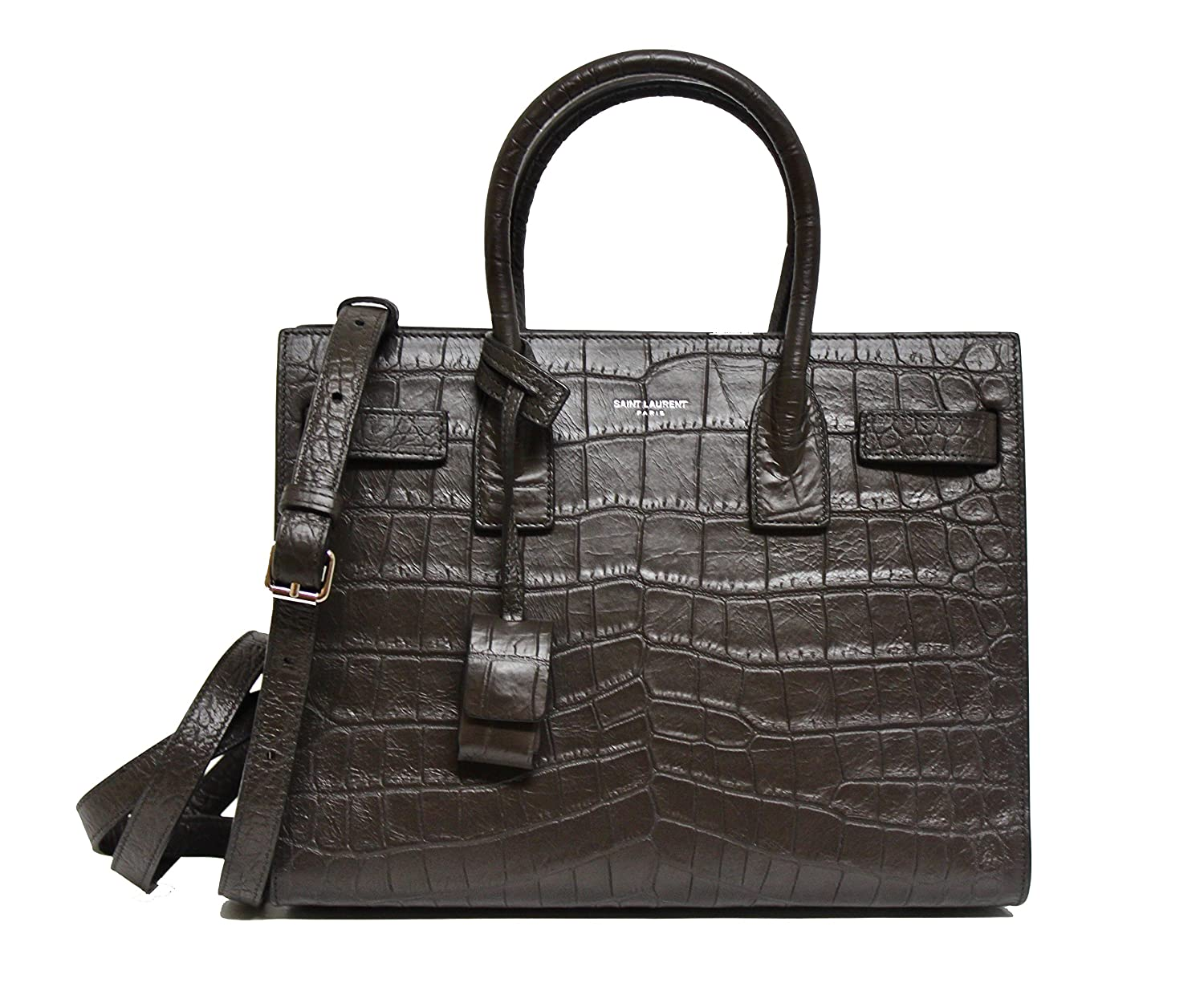 d6cbb78e77 Amazon.com  YSL Saint Laurent Small Sac De Jour Tote Bag in Grey Leather  355153 2034 W14  Baby
