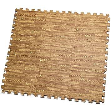 Amazon.com: Baldosas de tapete impreso de madera de encastre ...